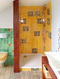 Dusche mit mango gewaschen und Abanico