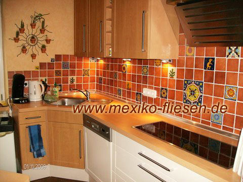 Picture with oiled terracotta tiles