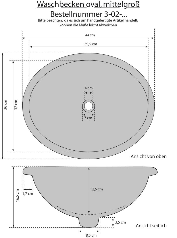 waschbecken oval 41x30 flores talavera kaufen im mexiko. Black Bedroom Furniture Sets. Home Design Ideas