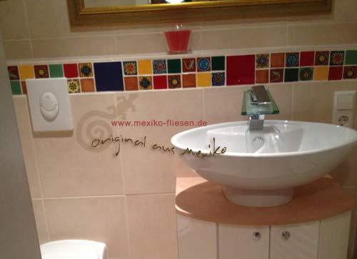 Badezimmer fliesen mosaik bunt  Mediterrane Badezimmer Fliesen Bunt ~ Innen- und Möbelideen