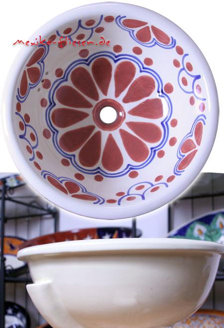 Waschbecken rund einbau  Waschbecken rund, Madrid TC kaufen im Mexiko-Fliesen Shop.