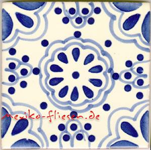 handbemalte fliese 10x10 lace azul kaufen im mexiko fliesen shop. Black Bedroom Furniture Sets. Home Design Ideas