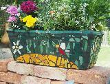 Mosaik-Blumenkasten