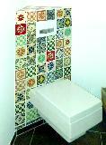 WC-Kasten mit Mexiko-Fliesen-Mix