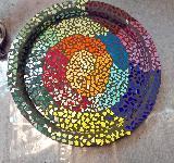 Tolle Regenbogen Schale aus Mosaik