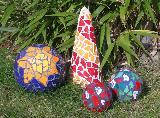 Arrangement verschiedener Mosaik-Elemente