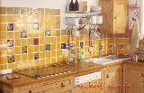 Küche in Mangofarben - Detail