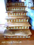 Treppe mit Fliese Roma