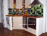 Küchenspiegel grün-blau 02