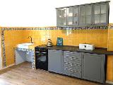 Gelbe Küchenrückwand in anthrazit Küche
