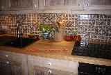 Küchenspiegel mit 5x5-Fliesen