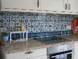 Küche mit Lace azul und Lilia azul