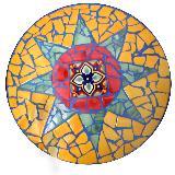 Mosaik-Tisch mit Stern