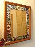 Spiegel mit Fliesenrahmen