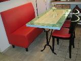 Tisch grün und mexican white