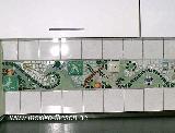 Küchenbordüre - Mosaik - Detail