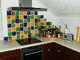Küchenschräge bunt gemixt