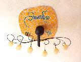Gecko-Mosaik um Deckenlampe