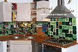 Küchenspiegel grün-blau 01