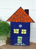 Mosaik-Haus blau
