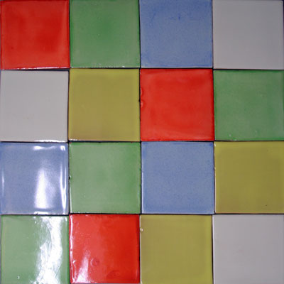 Vintage Fliese Einfarbig