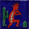 9-13-20 - Fliese 5x5 - Kokopelli azul