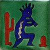 9-13-19 - Fliese 5x5 - Kokopelli verde
