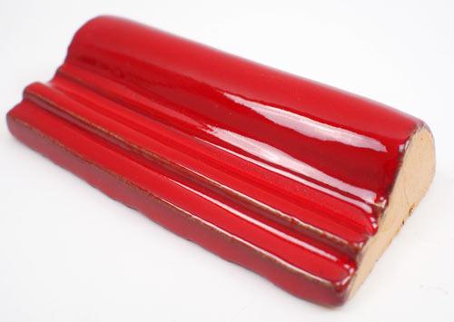 Gustavo ReliefBordüre Rot Kaufen Im MexikoFliesen Shop - Bodenfliesen 15x15 rot